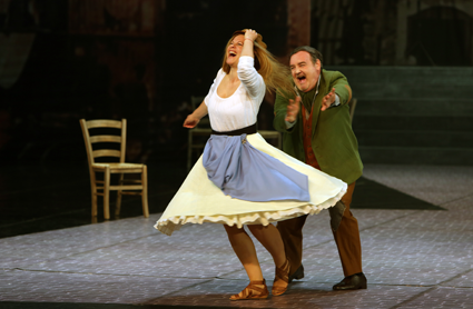 Natalia Ushakova as Maliella and Ivan Ožvát as Biaso [Photo courtesy of Slovenské národné divadlo]