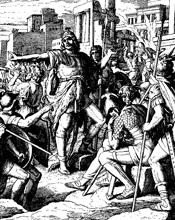 Judas Maccabaeus Wins by Julius Schnoor von Carolsfeld