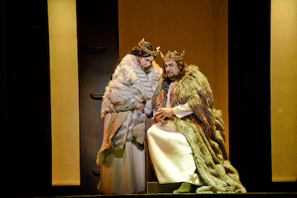 Ekaterina Semenchuk as Lady Macbeth and Placido Domingo as Macbeth [Photo: Karen Almond / LA Opera]
