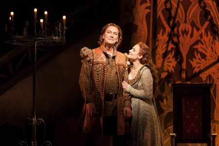 David Pittsinger as King Arthur and Andriana Chuchman as Guenevere  [Photo: Karli Cadel/The Glimmerglass Festival]