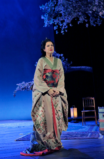 Ana Maria Martinez as Cio-Cio-San [Photo by Ken Howard for LA Opera]