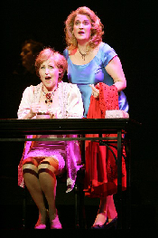 Frederica von Stade (Madeline) and Kristin Clayton (Beatrice) in Jake Heggie's Last Acts.  HGOs 37th world premiere opera. Photo courtesy of HGO.