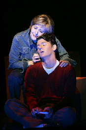  Frederica von Stade (Madeline) sings a childhood lullaby to Keith Phares (Charlie) to console him in Jake Heggies Last Acts.  HGOs 37th world premiere opera. Photo courtesy of HGO 