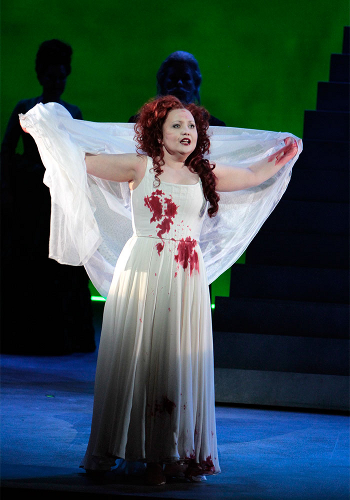 Albina Shagimuratova as Lucia in Mad Scene [Photo by Robert Millard]