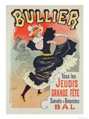 Poster of Bal Bullier (1899) by Georges Meunier (1869-1942)
