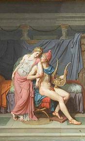 Les Amours de Pâris et d'Hélène by Jacques-Louis David (1788) [Musée du Louvre]