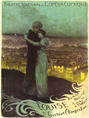 Poster of Louise at the Opéra-Comique in Paris (1900)