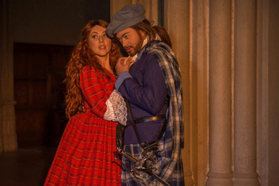 Bevin Hill as Lucia and Nathan Granner as Edgardo [Photo by Martha Benedict]