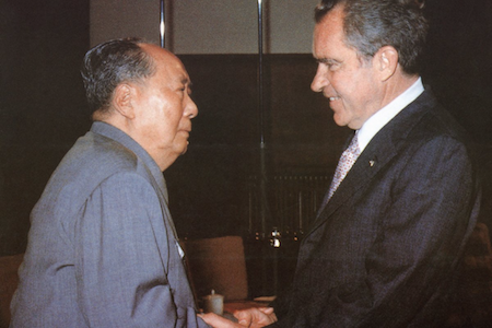 Mao Zedong and Richard Nixon