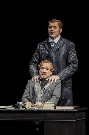 Martin Wolfel (Antonio) and Mark Le Brocq (Bassiano)- WNO's the Merchant of Venice- photo credit Johan Persson- 262.jpg