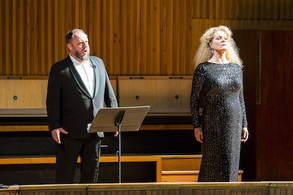 Matthias Goerne and Michelle deYoung in LPO's Das Rheingold c. Simon Jay Price.