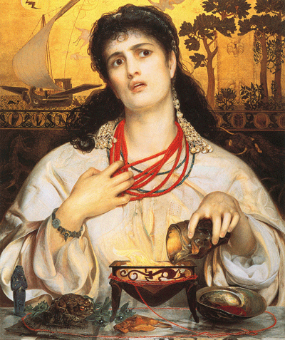 <em>Medea</em> by Anthony Frederick Augustus Sandys (painted 1866-68) [Source: Wikipedia]