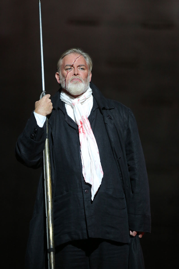 Jay Hunter Morris as Captain Ahab [Photo by Craig T. Mathew / LA Opera]