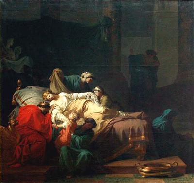 La Mort d'Alceste ou L'Héroïsme de l'amour conjugal by Pierre Peyron, 1785 (Musée du Louvre)