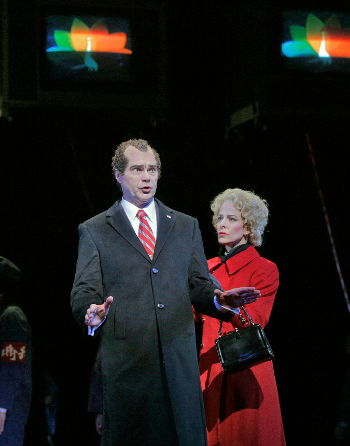 Franco Pomponi as Richard Nixon and soprano Maria Kanyova as Pat Nixon [Photo by Ken Howard]