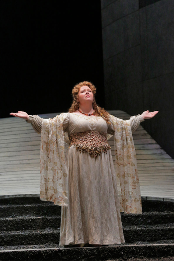 Jamie Barton as Adalgisa in LA Opera's 2015 production of