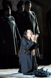 Maria Guleghina as Abigaille (Photo by Tabocchini e Gironella)