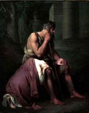 Oedipe et Antigone by Johann Peter Krafft (1809)