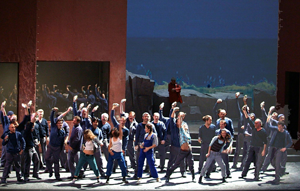 Chorus in Act III of Flying Dutchman at Barcelona