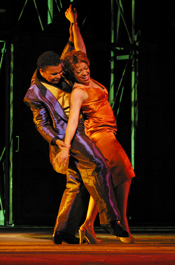 Victor Ryan Robertson as Sportin' Life and Indira Mahajan as Bess (Robert Millard, courtesy of LA Opera)