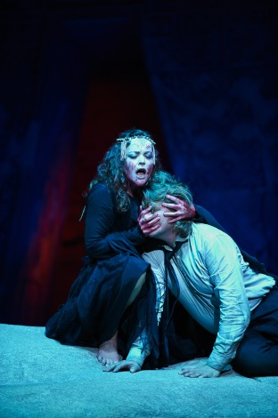 Evelyn Herlitzius as Kundry and Klaus Florian Vogt as Parsifal [Photo © Matthias Baus]