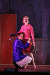 Iestyn Davies (Arsace) and Cyndia Sieden (Partenope) [Photo by Carol Rosegg courtesy of New York City Opera]