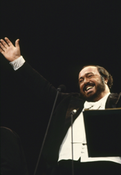 Luciano Pavarotti (Photo by Don Perdue, © Thirteen/WNET)