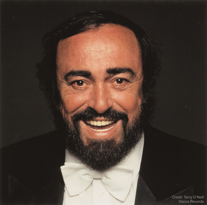 Luciano Pavarotti [Photo by Terry O'Neill/Decca Records]