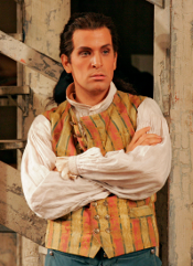 Luca Pisaroni as Figaro [Photo by Marty Sohl courtesy of The Metropolitan Opera]
