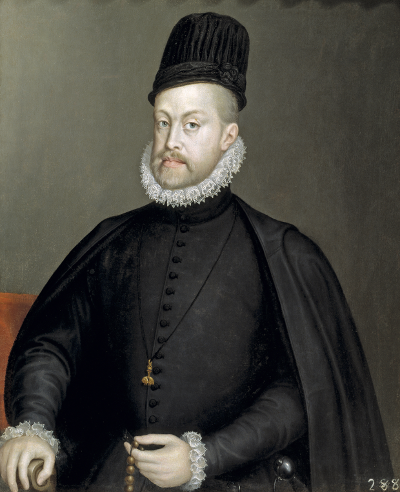 Portrait of Philip II of Spain by Sofonisba Anguissola (1573) [Source: Wikipedia]