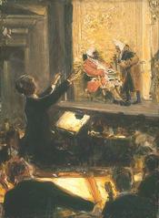 """Robert Sterl: Ernst Edler von Schuch dirigiert den """"Rosenkavalier"""" von Richard Strauss, 1912"""