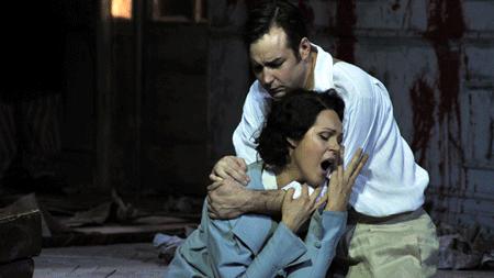 Abdellah Lasri as Rodolfo and Aleksandra Kurzak as Mimi [Photo by Mara Eggert]