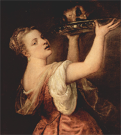 Salome with the Head of John the Baptist by Titian (1550)