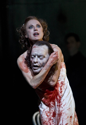 Nadja Michael (Salome) [Photo by Clive Barda courtesy of the Royal Opera House]