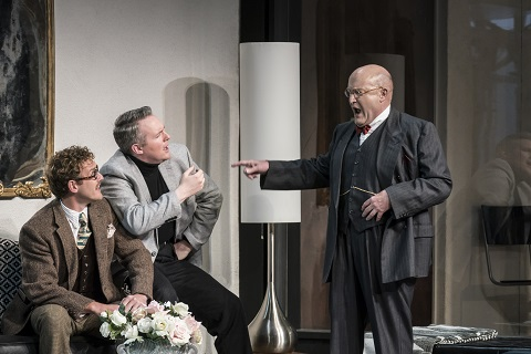 Sam Furness (Flamand), Gavan Ring (Olivier), Andrew Shore (La Roche) credit Johan Persson.jpg
