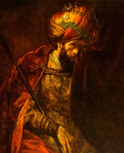 Detail from Saul and David by Rembrandt Harmenszoon van Rijn (1655-1660)