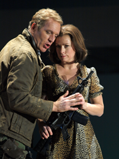 Christine Schäfer as Partenope and Kurt Streit as Emilio [Photo by Armin Bardel courtesy of Theater an der Wien]