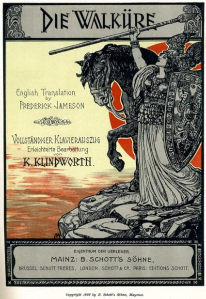 Brünnhilde on the mountainside [Source: Wikipedia]