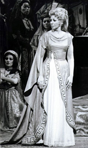 Beverly Sills in her Metropolitan Opera debut as Pamira in Rossini's Siege of Corinth on April 7, 1975.