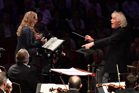 Sir Simon Rattle conducts Eva-Maria Westbroek with the London Symphony Orchestra.jpg