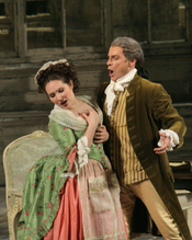 Ekaterina Siurina (Susanna) and Simon Keenlyside (Count) [Photo copyright Ken Howard courtesy of Metropolitan Opera]