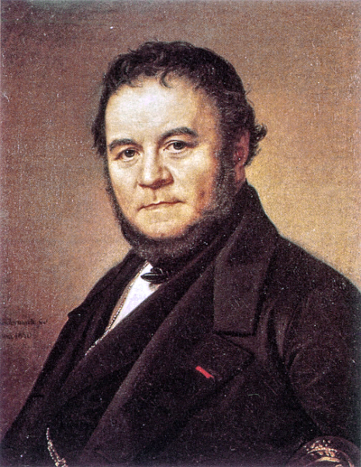Stendhal, by Olof Johan Södermark, 1840 [Source: Wikipedia]