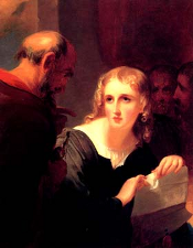 Thomas Sully. Portia and Shylock, 1835.