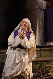 Sondra Radvonovsky as Sister Angelica [Photo by Robert Millard]
