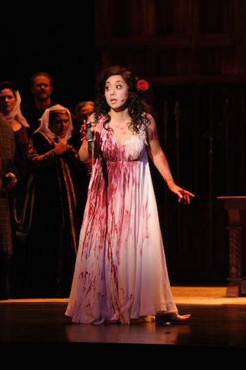 Sylvia Lee as Lucia  [Photo by Pat Kirk]
