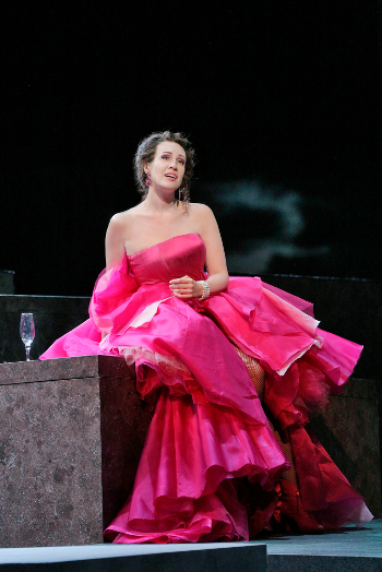 Brenda Rae as Violetta [Photo by Ken Howard courtesy of Santa Fe Opera]