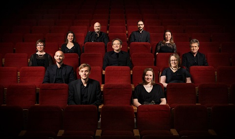 The Tallis Scholars with Peter Philips (centre) [Photo by Nick Rutter]