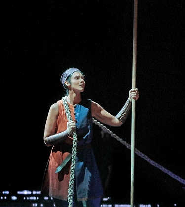 Tamara Mumford as the Pilgrim [Photo by Ken Howard / Metropolitan Opera]