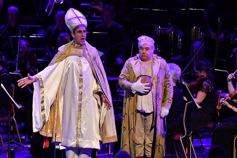 Tareq Nazmi (Pope) and Maurizio Muraro (Giacomo Balducci).JPG
