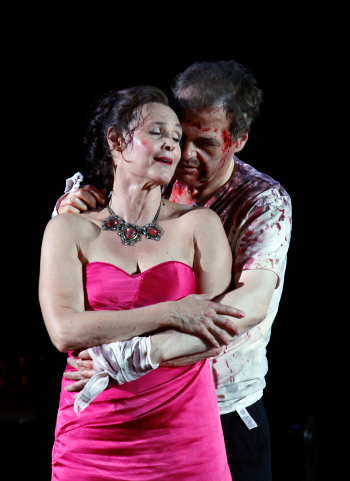 Ingela Brimberg as Tosca and Lance Ryan as Cavaradossi [Photo © Klaus Lefebvre]